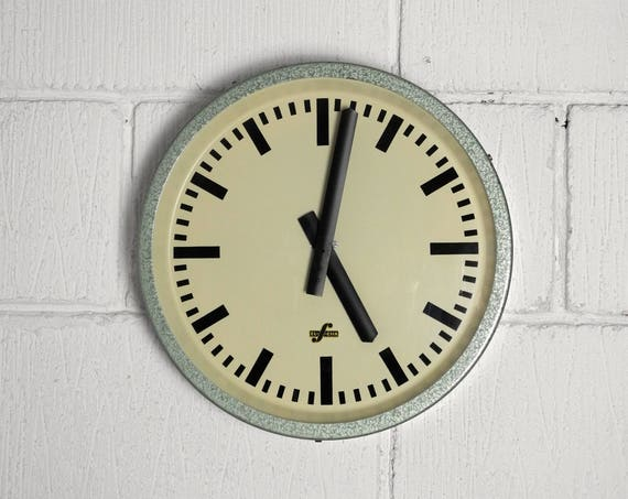 1950's East German Industrial Factory / Office Clocks By Elfema