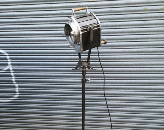 Vintage 1970s East German Veb Leuchtenbau Large Theatre Spotlight