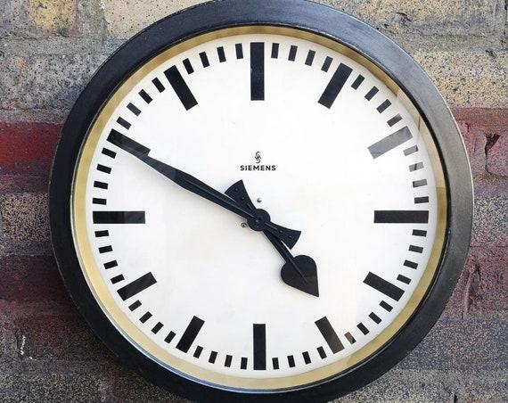 1930s German Factory Clock By Siemens