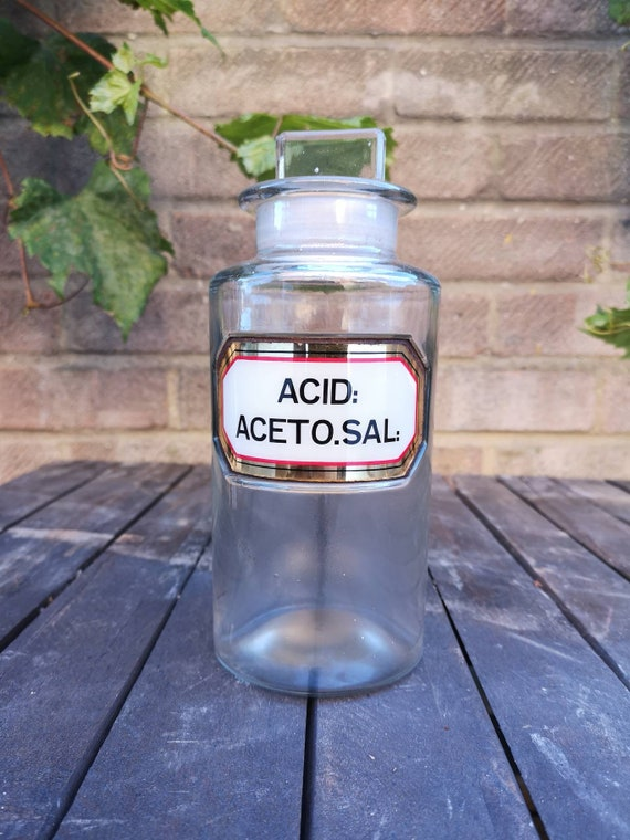 Early 1900s British LUG ( Label Under Glass ) Apothecary Chemists Bottles