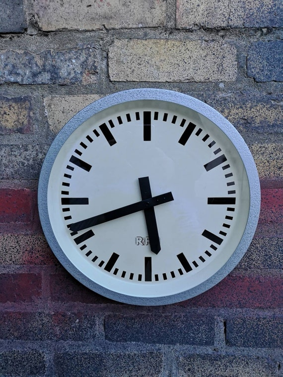 1960s East German Industrial Factory / Office Clocks By RFT