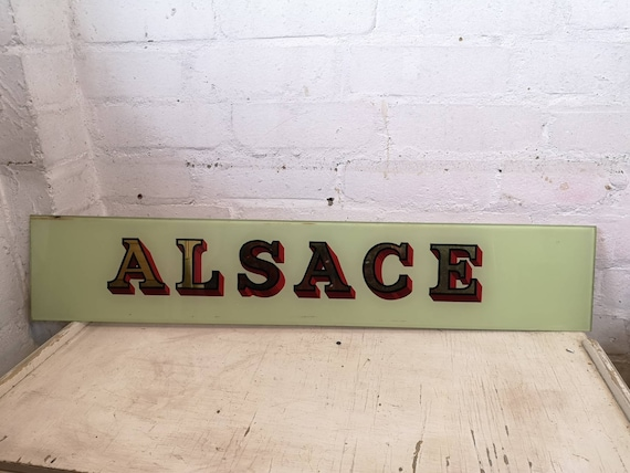 Early 1900s Hand Painted Glass Pub Signs