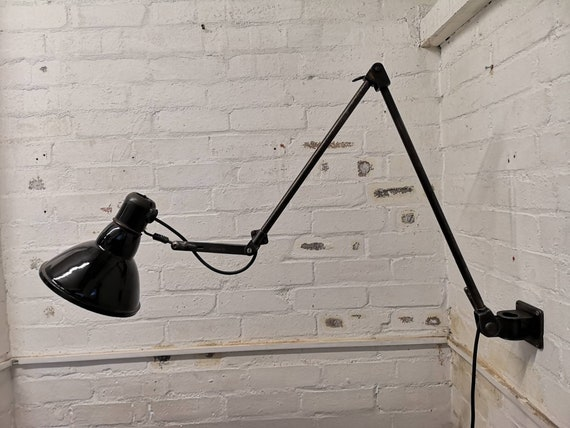 1930s German Made FABRILUX Wall Mountable Task Lamp