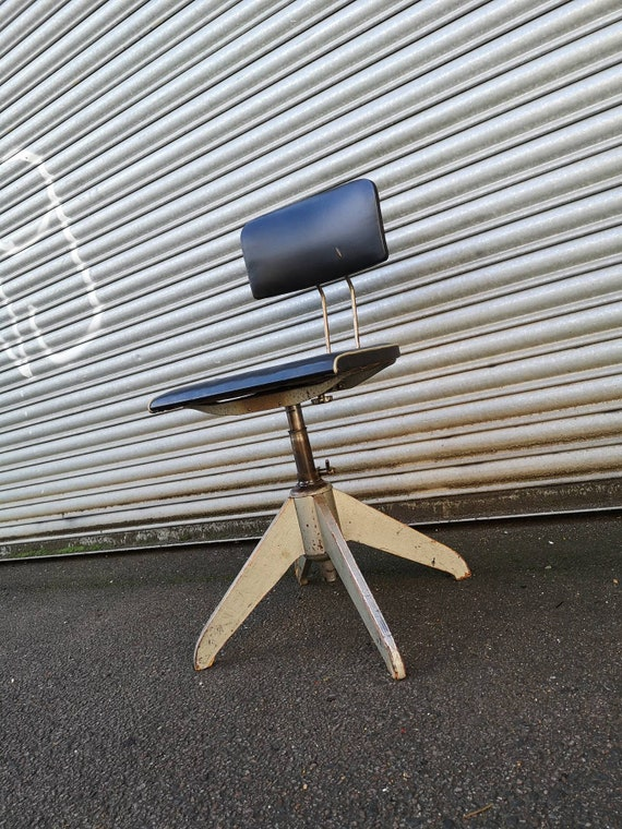 Industrial 1950s BEMEFA Post War ROWAC Adjustable Architects Chair By Robert Wagner