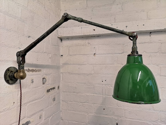 1930s Industrial Task Lamp By REVO England
