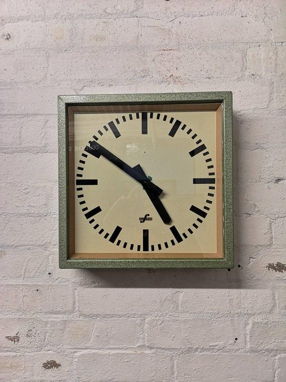 1950's East German Industrial Factory Clocks By Elfema