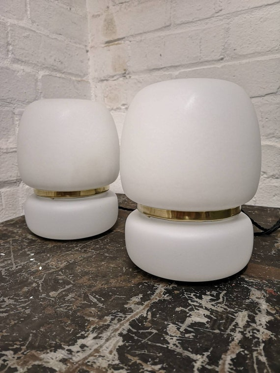 1970s Opaline Glass Table Lamps By Ivan Jakes For Sklárny Rapotin, Czechoslovakia