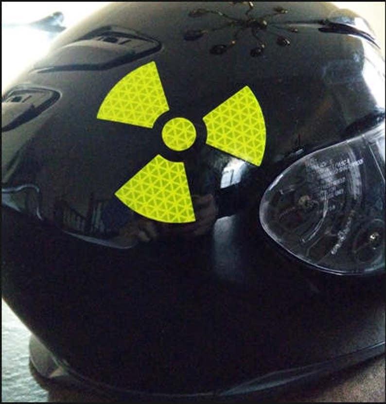 Groovy Radioaktywnych naklejki kask motocyklowy znak | Etsy JS42