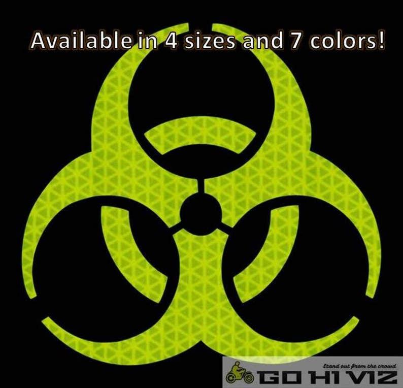 Zaawansowane Biohazard naklejki odblaskowe kask motocyklowy samochodów | Etsy FS56