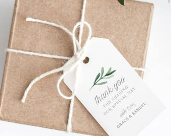 Thank You Tag, Wedding Thank You Tags Template, Instant Download Tags, Printable Thank You Tags, Editable Wedding Favour Tags - KPC02_211