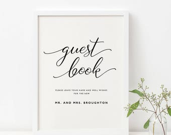 Printable Guestbook Sign Template Wedding Guestbook Sign | Etsy