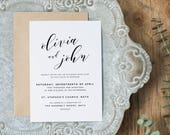 Editable Wedding Invitation Template, Printable Wedding Invitation, Wedding Invitation Printable, Wedding Invitation Download - KPC01_102