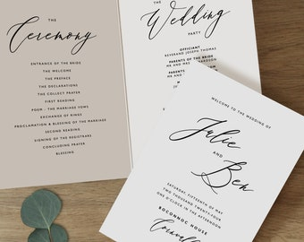 wedding programs etsy