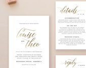 Editable Wedding Invitation Template, Printable Wedding Invitation, Gold Wedding Invitation Printable, Gold Wedding Invitation - KPC03_102