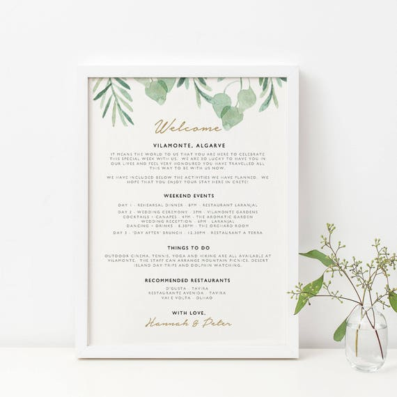 Wedding Welcome Itinerary Template Editable Wedding Itinerary Wedding Welcome Bag Printable Wedding Timeline Template Diy Kpc09 315