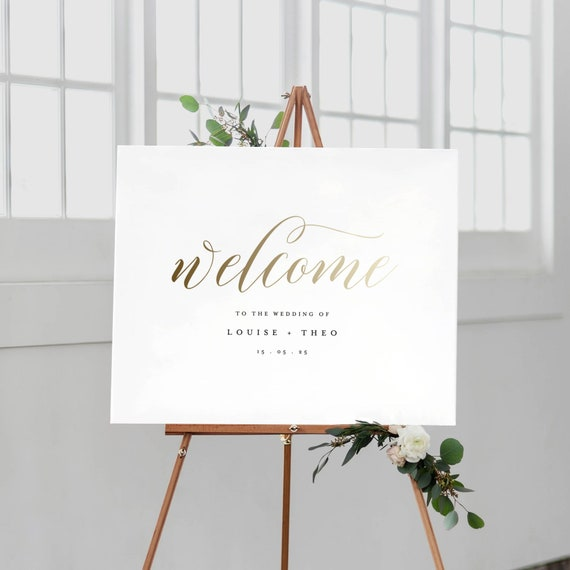 Welcome To Our Wedding Sign Template Printable Welcome Sign Etsy
