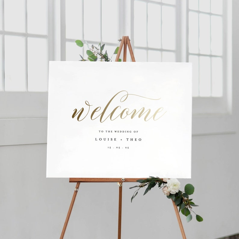 d037ad8b5b1 Welcome To Our Wedding Sign Template Printable Welcome Sign