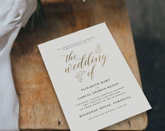 Editable Wedding Invitation Template, Printable Wedding Invitation, Wedding Invitation Printable, Wedding Invitation Download - KPC03_102
