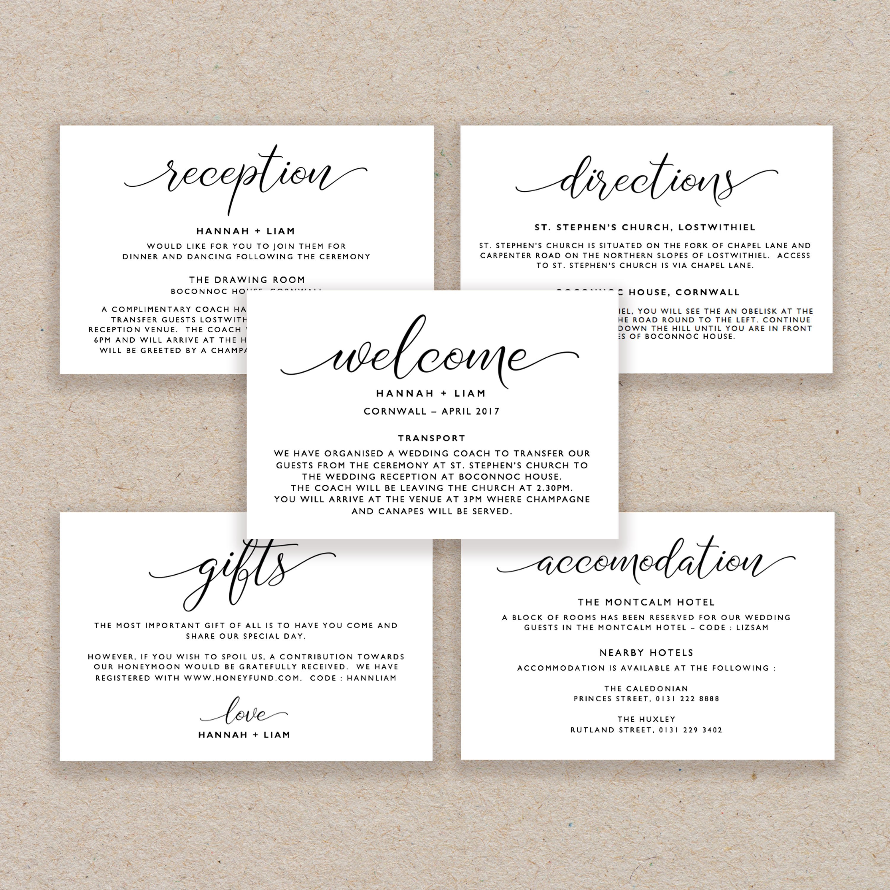 50: Acmodation Cards For Wedding Invitations At Websimilar.org