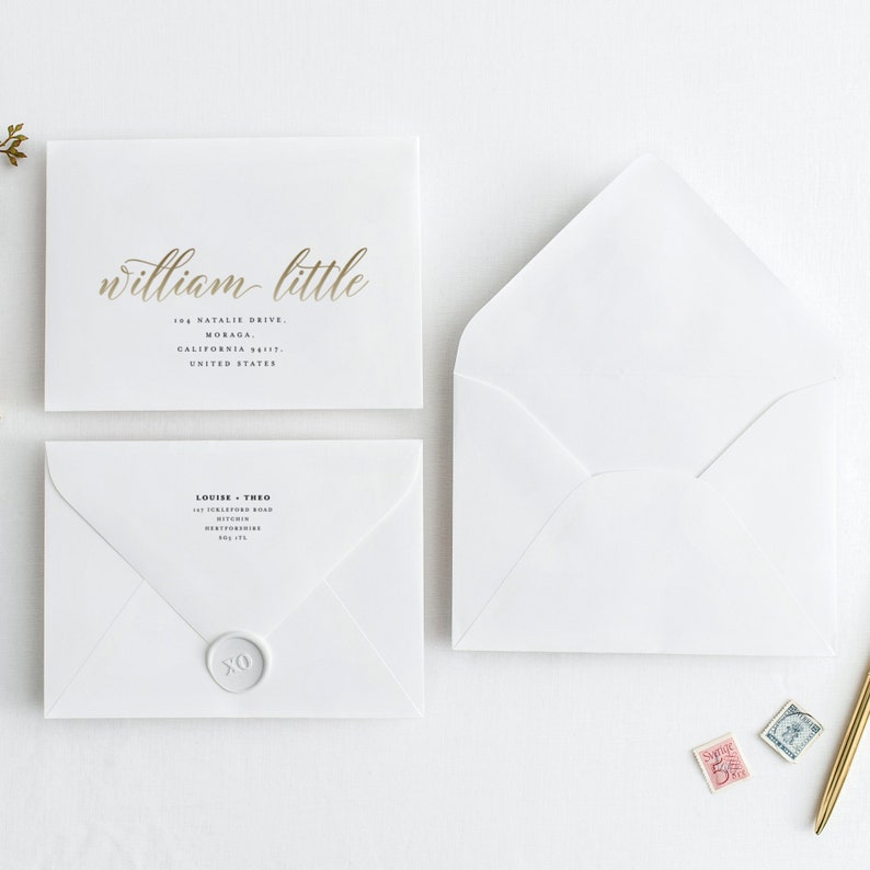 picture about Printable Envelope Address Template referred to as Printable Envelope Addressing Template, Wedding day Handled Envelope, Wedding ceremony Envelope Template Printable Envelope Return Include - KPC03_106