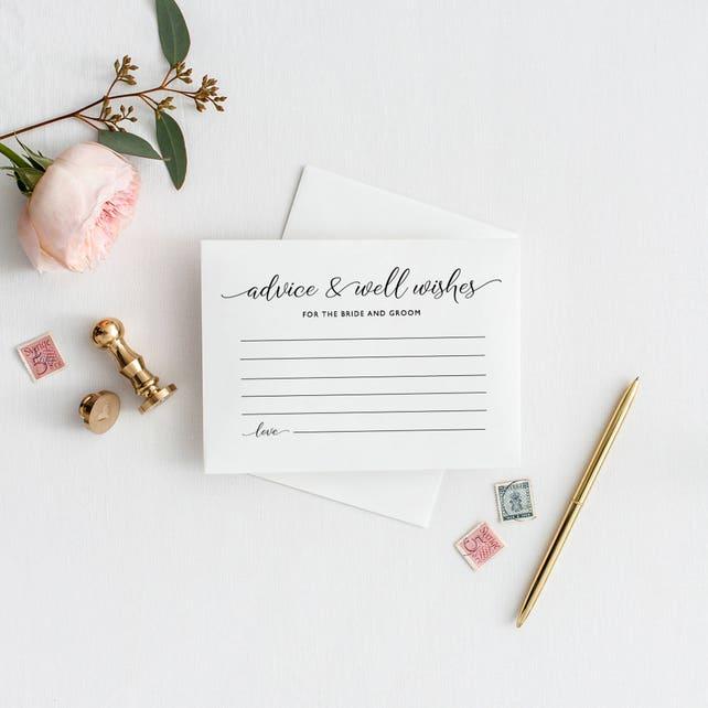 Advice For The Bride Groom Cards Wedding Advice Cards Advice