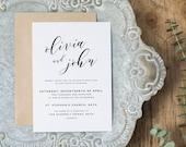 Editable Wedding Invitation Template, Printable Wedding Invitation, Wedding Invitation Printable, Wedding Invitation Download - KPC01_102