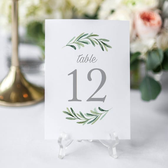 printable table numbers template editable table numbers. Black Bedroom Furniture Sets. Home Design Ideas