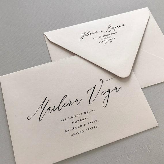 Printable Envelope Addressing Template Wedding Addressed  Etsy