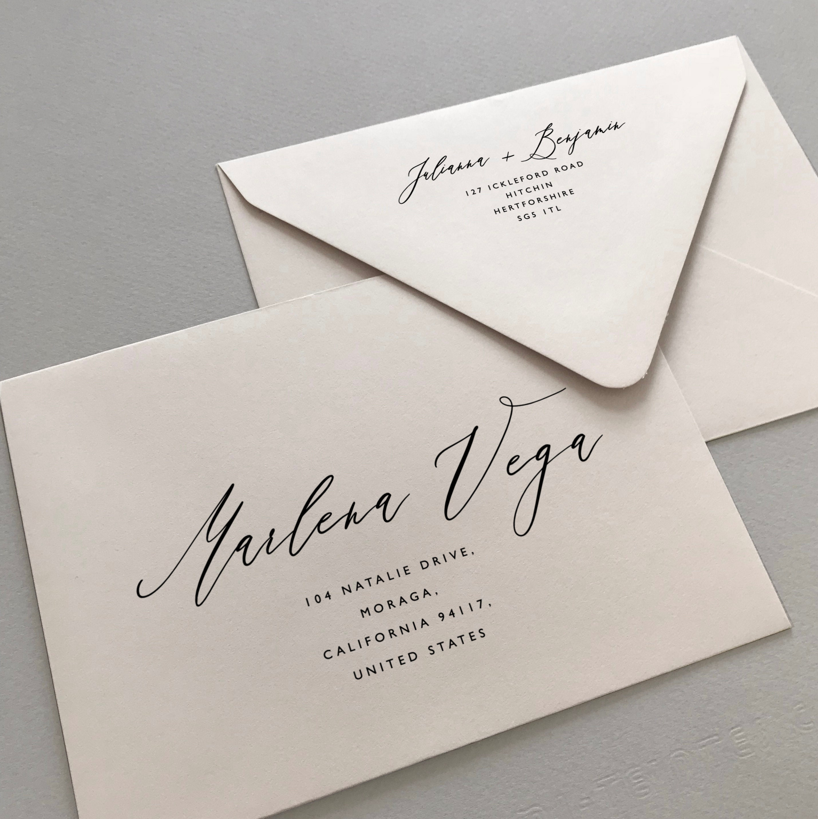 Printable Envelope Addressing Template Wedding Addressed