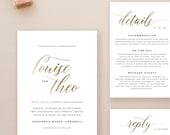 Editable Wedding Invitation Template, Printable Wedding Invitation, Gold Wedding Invitation Printable, Gold Wedding Invitation - KPC03_102