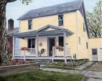 Custom home portraits, Oil paintings, Commission Painting, From photo, Portraits, Military, Airplane painting