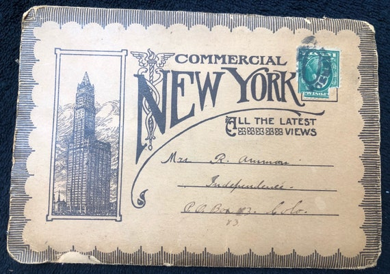 Antique New York City Postcards 11 Cards Front And Back Fold Out Accordian Style