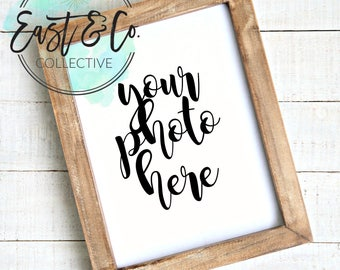 Styled Frame Mockup, Wood Frame Mockup, Styled Stock Photography, Blank Frame Stock Photo,  Frame Mockup Add Your Design Digital Download