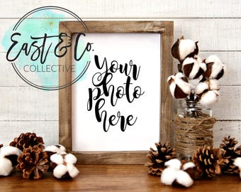 Frame Mockup, Frame Mock-Up, Simple Frame Mockup, Fall Styled Frame, Winter Styled Frame, Farmhouse Mockup, Styled Stock Photography