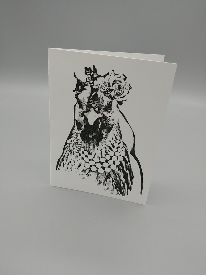 Free Shipping Chicke Greeting Cards Farm Animal Note Cards 5-Chicken Blank Note Cards