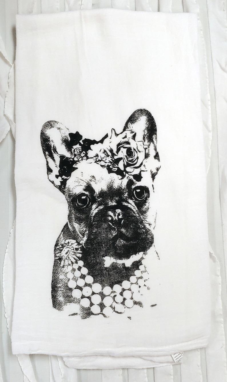 Bon French Bull Dog Towel, Dog Towel Gift, French Bull Dog Flour Sack Tea  Towel, Dog Kitchen Towel, Dog Lovers Towel, Free Shipping