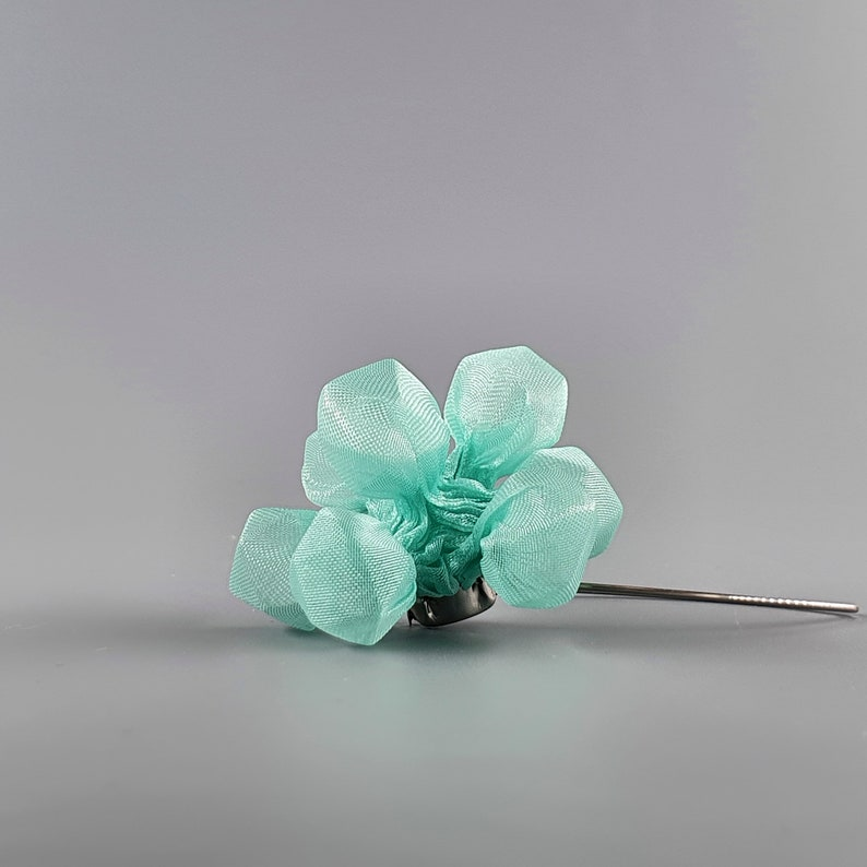 Funky Earrings Chunky Earring Avant Garde Earrings Avant Garde Jewelry Delicate Earrings Mint Earrings Fashion Accessories Gift