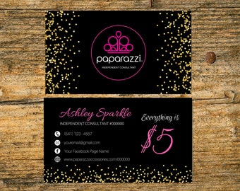 Paparazzi business cards etsy paparazzi business card printable fast free personalized paparazzi custom paparazzi jewelry consultant card digital printable reheart Image collections
