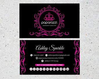 paparazzi business cards etsy