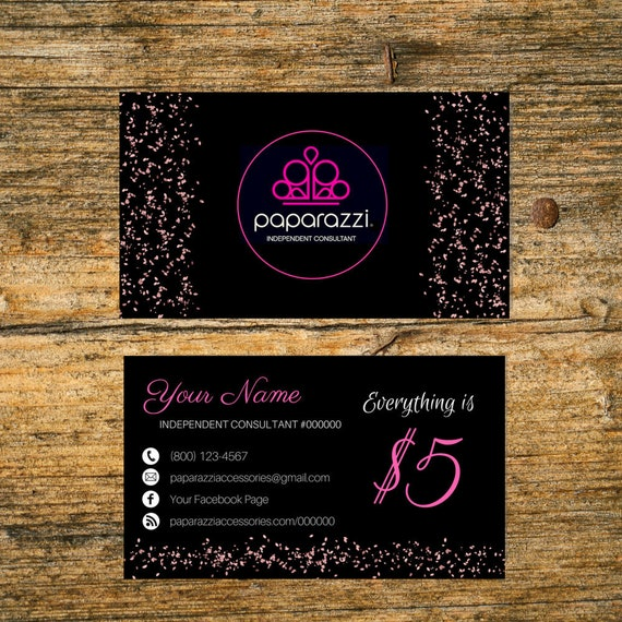 Paparazzi business card custom paparazzi accessories etsy image 0 colourmoves