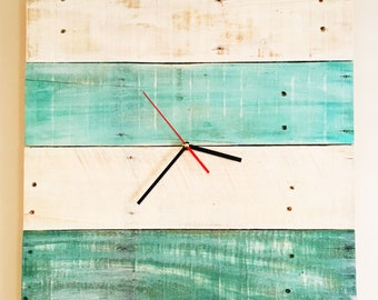 Rustic Reclaimed Wood Wall Clock