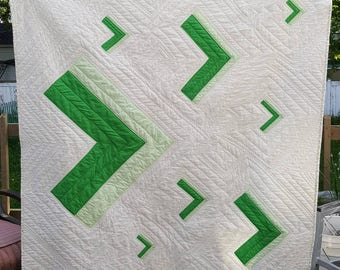 """Greater Than - Appliqued Quilt 51"""" x 57"""""""