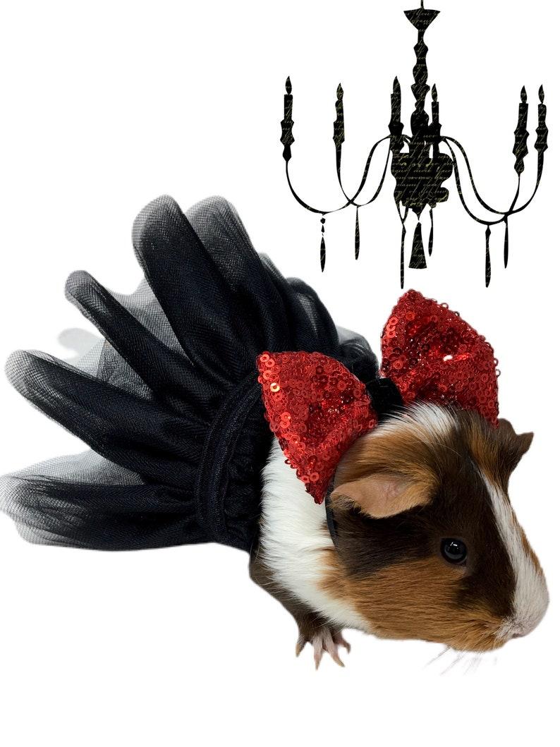 Pet tutu black guinea pig tutu pet wedding tutu small pet image 0