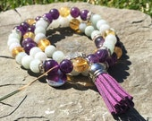 Infinite inspiration and support Reiki Healing Mala Bracelet, Reiki, Mala Bracelet, Wrist Mala, Healing Bracelet, Hand Made Jewelry, For Her