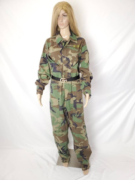 Camouflage Army Vintage Coveralls Camo Military Cr