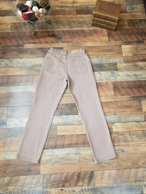 Vintage 90s Denim Riders High Waisted Jeans Straight Leg Tan Cocoa JeanWomen's size 27 28