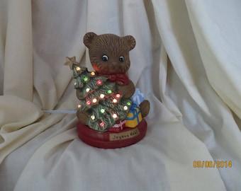 Christmas Teddy bear lamp