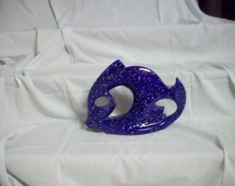Crystals blue fish
