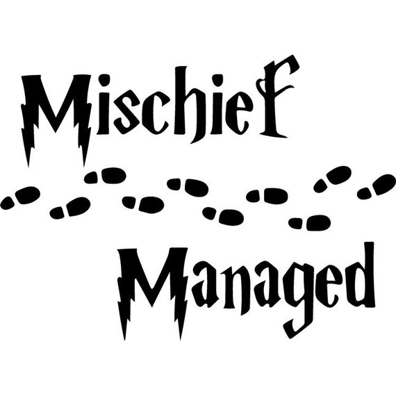 Harry Potter Inspired Mischief Managed Svg Png Download Etsy