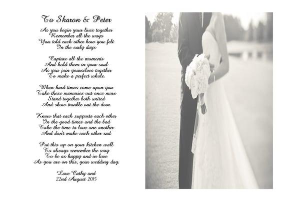 Geliefde Gedicht voor de bruid en bruidegom op hun bruiloft dag   Etsy #IV16